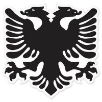 Albanian National Flag Bumper Sticker eagle 5