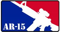 AR-15 Major League Pro Gun Bumper Sticker 6