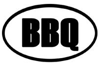 BBQ Oval Bumper Sticker barbecue cook euro decal 7