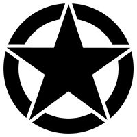WWII Star Truck Decal Sticker