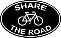 Share The Road Bumper Sticker Cyclists 4.5