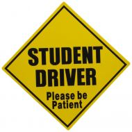 Student Driver Please Be Patient Bumper Sticker Caution Sign Car Decal 5