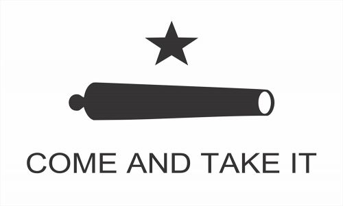 Texas Come and Take It Flag Bumper Sticker 5